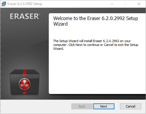 Мастер установки Eraser