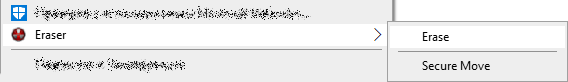 Надёжное удаление файла с помощью Eraser