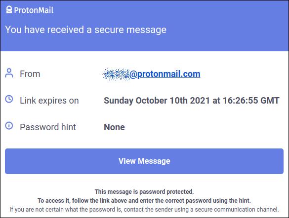 Получено зашифрованное письмо
